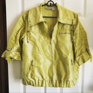 Chico's Jacket, Size Medium / Large, Lime Green